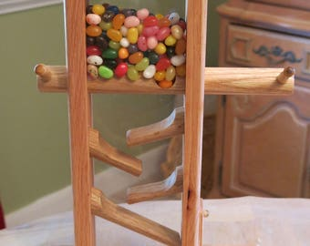 Wooden Candy Dispenser - Jelly Beans- M&M- Nuts (Oak)