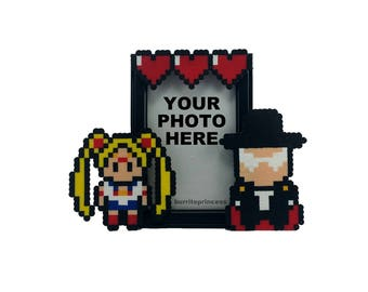 Sailor Moon and Tuxedo Mask Picture Frame - Sailor Moon Wedding Gift - Sailor Moon Anniversary Gift - Sailor Moon Valentine's Day Gift