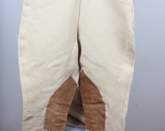 1960s Era Womens Childrens Tan Prestige Brand Jodpurs Breeches Equestrian Riding Pants