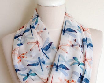 Dragon Fly Infinity Scarf Gift For Her Wife Fashion Accessories outdoors gift
