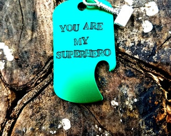 Personalized Superhero Keychain, Superman Keychain, Batman Keychain, Captain America Keychain, Flash, Thor Christmas Gifts For Him, Dad Gift
