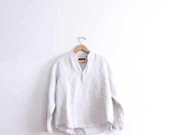 Minimal Grey Textured Blouse