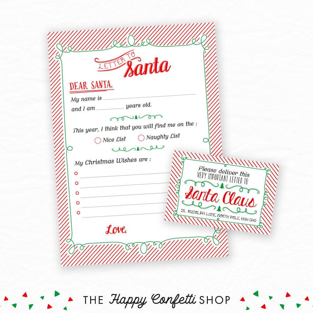 Letter To Santa, Dear Santa, Christmas Wishlist, Christmas ...