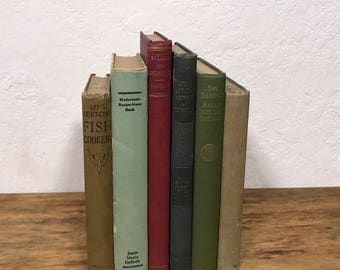 Lot 6 vintage 1920s Cook books. 20s cookbooks. Instant culinary library. Hostess Gift for her. Hardcover cookbooks  Dorothy Hamilton