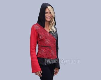 Women pixie hoodie-  Cotton Flece Hoodie - women pixie jacket