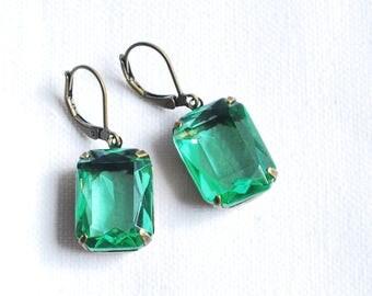 Peridot earrings Green jewelry