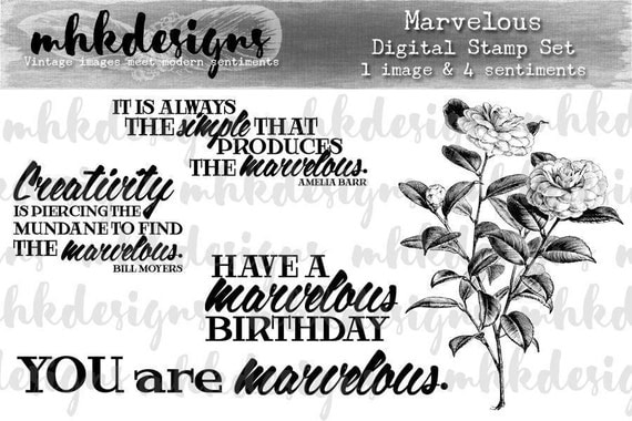 Marvelous Digital Stamp Set