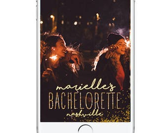 Bachelorette Party Geofilter Snapchat Filter, Bachelorette Snapchat Filter, Personalied Bachelorette Geofilter, Snapchat Geofilter Sparkly