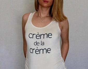 Creme De La Creme Maternity Top, pregnancy shirt, maternity shirt, pregnancy announcement, maternity clothes, pregnancy gift