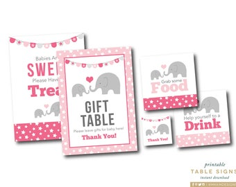 baby shower signs elephant baby shower elephant favor tags gift table sign