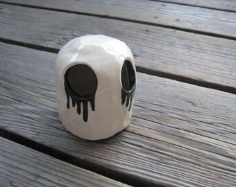 Little Ceramic Sculpture - Creepy Betta Hide - Little White Ghost - Ceramic Tank Decorations - Small Aquarium Cave - Small Fish Hide