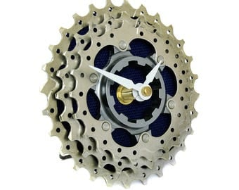 Recycled Bicycle Cog Desk Clock - Bike Clock - Steampunk Clock - Bicycle Gear Clock - Bicycle Clock - Upcycled Bike Parts - Ecofriendly Gift