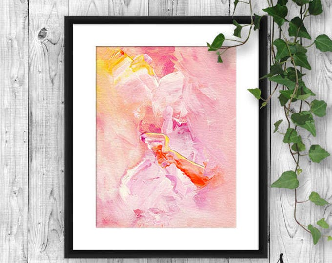 Featured listing image: Pink Abstract Art Print, Abstract Wall Art, Pink Abstract Art, Abstract Home Decor, Abstract Print, Pink Art Print, Pink Gallery Poster
