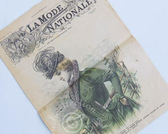 Vintage French Fashion and Home Magazine La Mode Nationale 1898