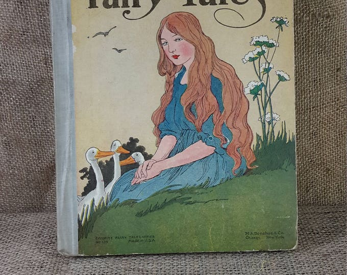 Super vintage book, Grimm's Fairy Tales from 1920, favorite fairy tales series no 135, MA Donahue and Company, Antique childrens book