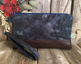 Wristlet Wallet, Iphone 8 Plus Wristlet Purse, Vegan Leather Wristlet, Bridesmaid Clutch Wallet, Otterbox Wristlet, Iphone X  Evening Bag
