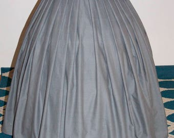 "Civil War Hoop Skirt/ Pleated Victorian Skirt / 34"" Waist/ Hoop"