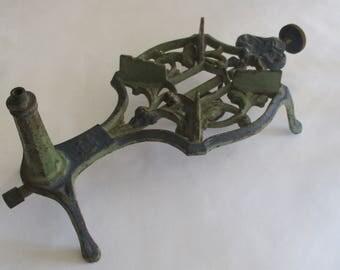 Antique Art Nouveau Cast Iron Spirit/Alcohol Stove, Trivet, Camping Stove. Bohemian. Czechoslovakia.  Early 1900's. Gustav Heyde, Phoebus.
