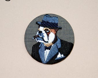Large embroidered brooch Winston
