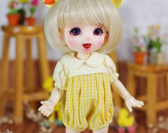 "Lati Yellow/Pukifee - ""Cloudy Milk"" Romper/Jumpsuit - YellowCaro"