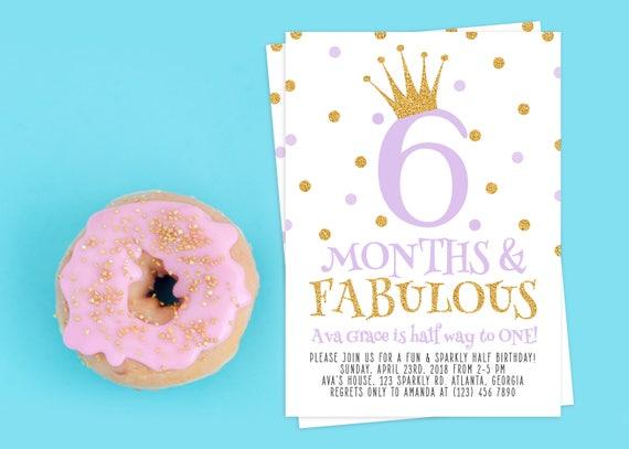 Half birthday invitation 12 birthday invitation half birthday il570xn filmwisefo