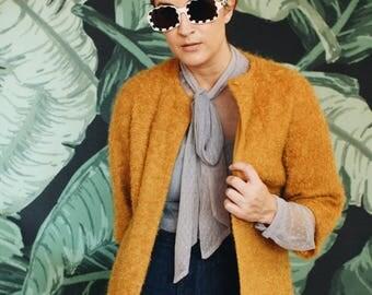 Fuzzy Golden Housecoat