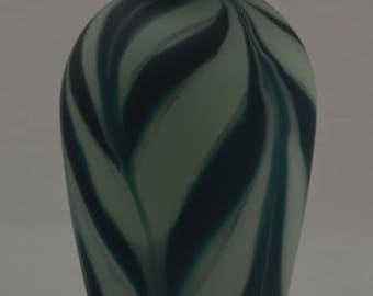 Navy Celadon Feather Bottle