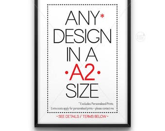 A2 size poster || large wall art, typography print, industrial print, A2 poster, industrial decor, 16 x 20 size, 16x20, upsized print, large