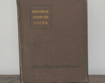 Browning's Shorter Poems Pocket Classic Hardcover Book c. 1917  Robert Browning Poems