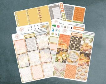 Happy Thanksgiving, Erin Condren Planner Stickers, Planner Stickers, Harvest Stickers, Planner Stickers Erin Condren, Stickers, ECLP, WK-19