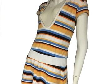 Retro 60's-70's Terry Cloth Cover Up Beach Dress