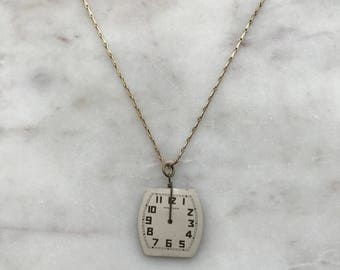 Vintage Watch Face Necklace \ Matching Double Sided