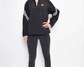 Vintage 90's Adidas Black Jacket - Size Medium