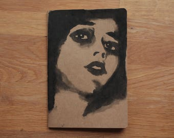Plain Notebook with Illustrated Cover - Original ink drawing