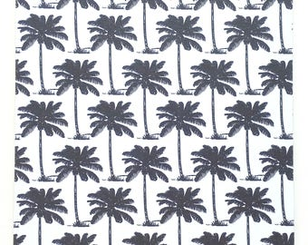 Clipboard, Palm Trees, Black and White, Upscale Clipboard, Gift, School, Office, Co-Worker, Teacher, Student, Teacher Gift, 2-Sided