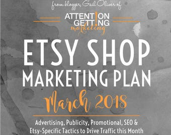 One of My Best Selling Items – Etsy Marketing Plan for March 2018 with Actionable Tactics To Drive More Traffic to Your Etsy Shop