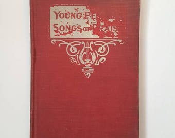 Hymnal 1902 Young People's Songs of Praise antique hymnal