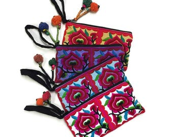 Set of Four Wristlets Floral - Fair Trade Thailand (035P)