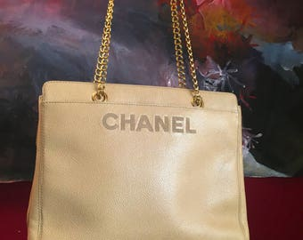 Chanel Purse Beige Brown Leather Bag