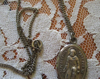 Saint Peregrine, Sterling Medal, Bliss Sterling, Vintage Medals, Religious Medals, Saints Medals, St Peregrine, Holy Mother, Virgin Mary