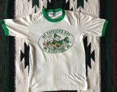 Vtg 1983 St. Patrick's Day Survivor Paddy's Old City Philadelphia Ringer Tee Size S