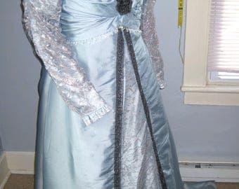 1908 Ice Blue Dinner Dress