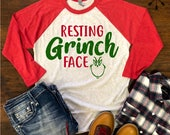 Resting Grinch shirt, Christmas shirt, Resting Grinch Face, Funny Christmas Shirt, Cute Christmas Shirt, Christmas Gift, Free Shipping