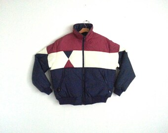 Rad Vintage 80s Ski Jacket Colorblock Winter Coat Men's