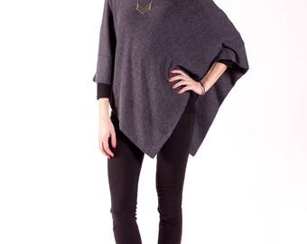 Womens Poncho Cape / Poncho Wrap / Poncho Sweater Long / One Size Poncho / Womens Clothing / Lightweight and Soft / Gift Idea