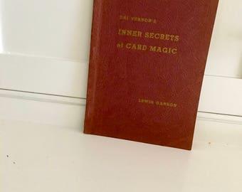 Vintage Magic Book: Dai Vernon's Inner Secrets of Card Magic/ 1960 Paperback Edition/ Vintage Dai Vernon/ Magician's Estate