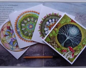 Celtic Mandala Square Notebook Set ~ Pack of 4