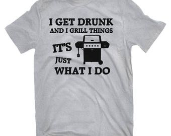 I Grill Things | BBQ T-shirt | Grilling T-shirt | Gas Propane Grill T-shirts | Funny T-shirt | Mens T-shirt | Barbecue Shirt