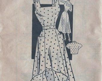 1950s Marian Martin 9275 Women's Sun Dress & Bolero Sewing Pattern