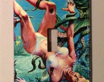 light switch cover plate: Another Octopus Attaaaack